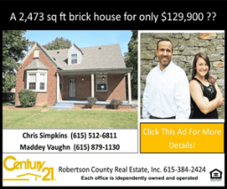 Century 21 brick house only 129 ad
