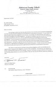 Davis letter