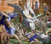Angel destroying Assyrians