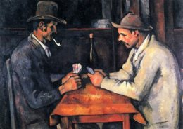 two men playing cards