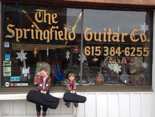 Kids at Springfield Guitar