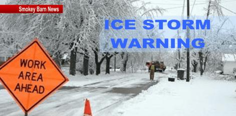 ice storm warning slider