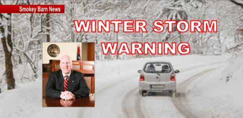 winter storm slider message from mayor