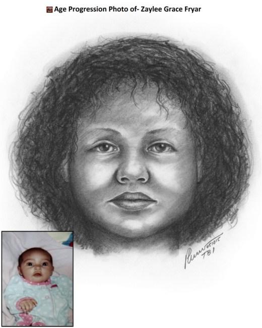 Zaylee Grace Fryar age progression image