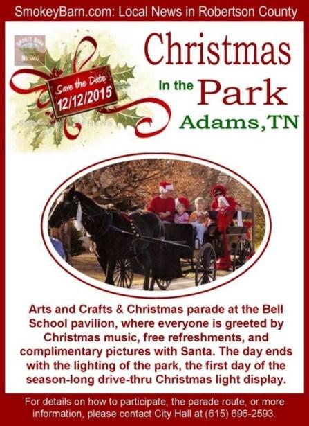Adams Christmas parade flyer 2015 SBN 12 12