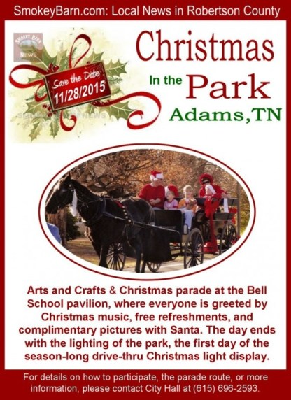 Adams Christmas parade flyer 2015 SBN