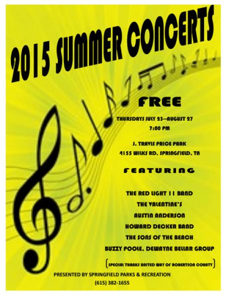Summer concert series 2015
