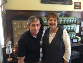 (L)Tea Time Photographer, John O'Hagan & Burdett's owner, Sandy Ramsey