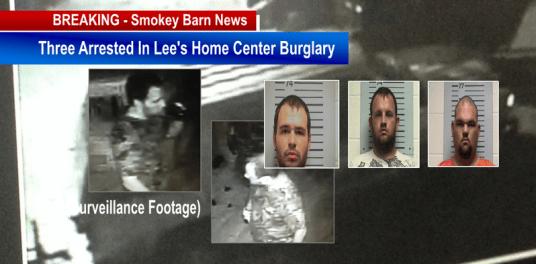three arrested in Lee's burglary slider