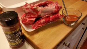 Prep beef ribs