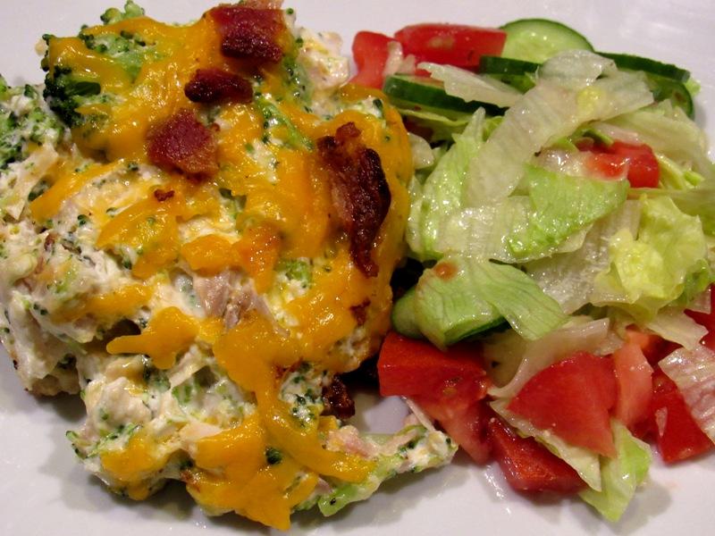 Low Carb Bacon Chicken Broccoli Casserole