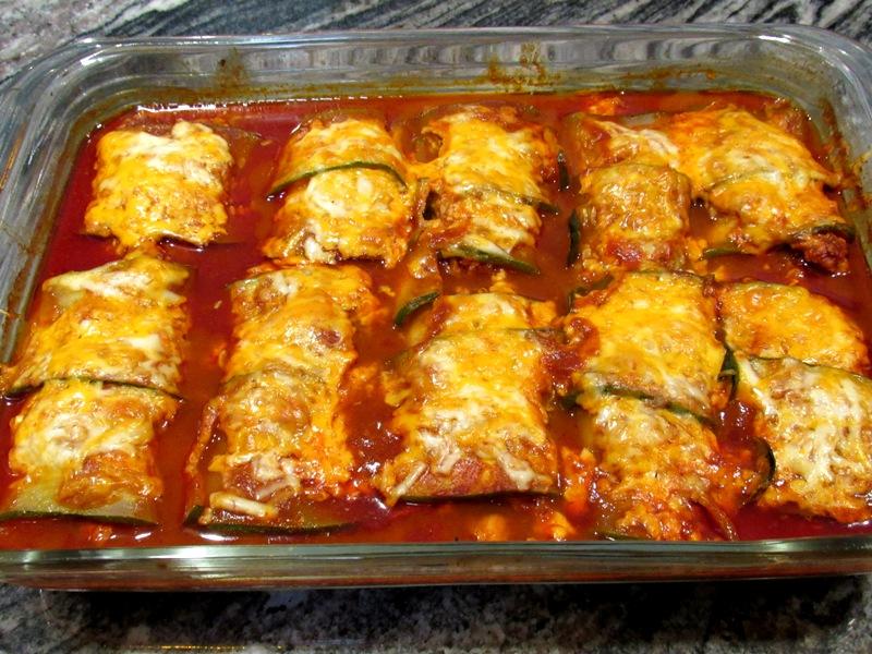 Baked Zucchini Turkey Enchiladas