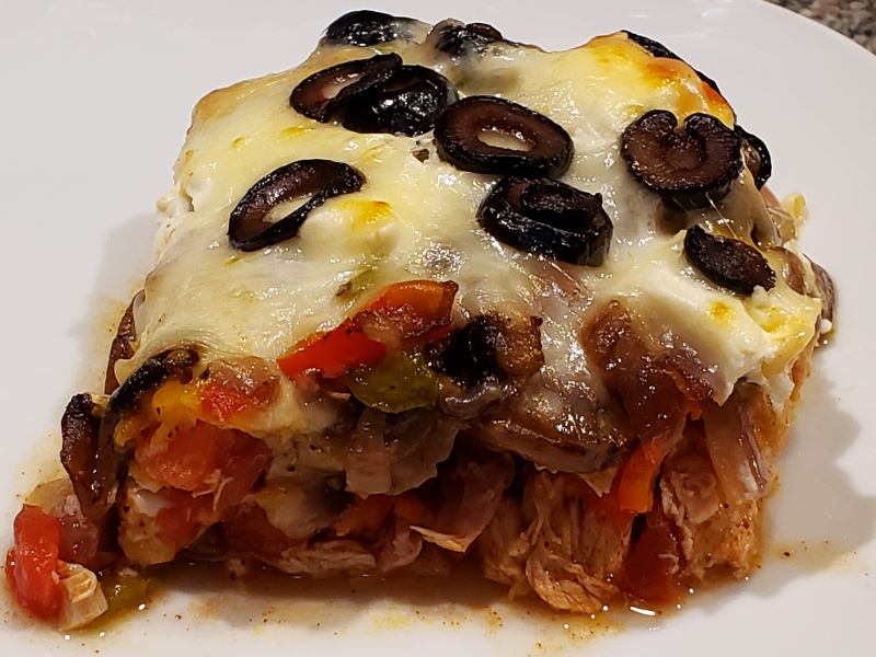 Low Carb Mexican Smoked Chicken Casserole
