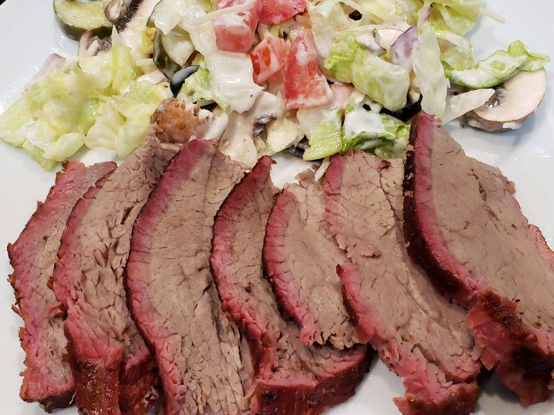 Smoked TRISKET & Salad