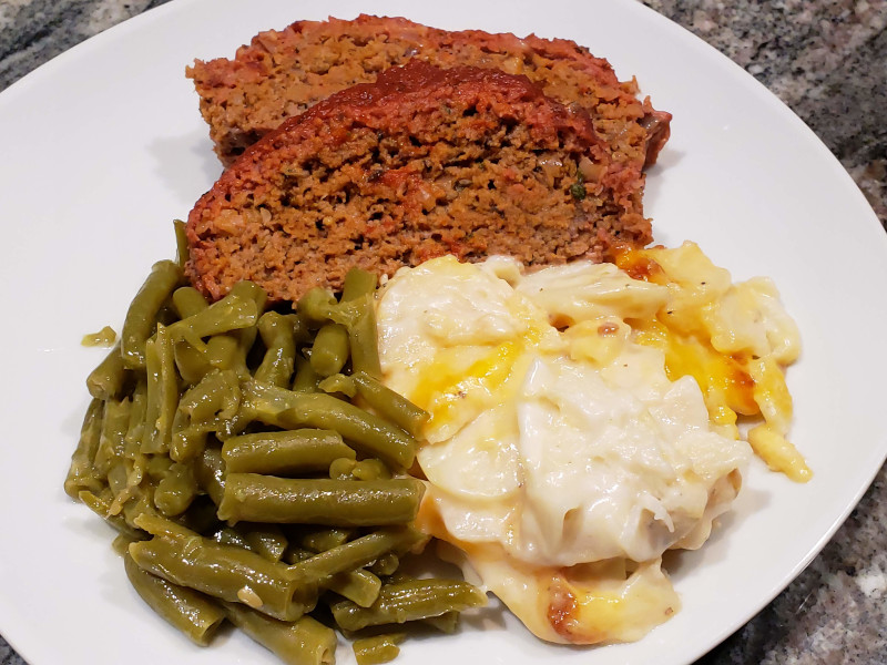 Smoked Meatloaf plus sides