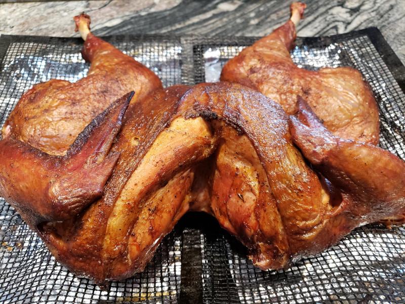 Smoked Spatchcock 14 lb Turkey