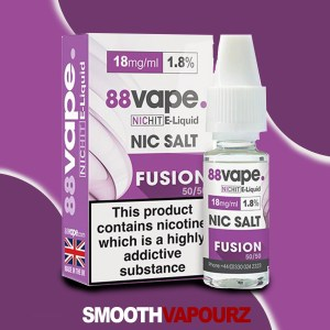 88 Vape Fusion Nic Salt - smooth vapourz