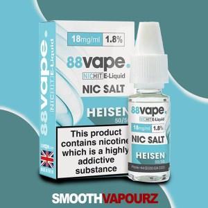 88 Vape Heisen Nic Salt - smooth vapourz