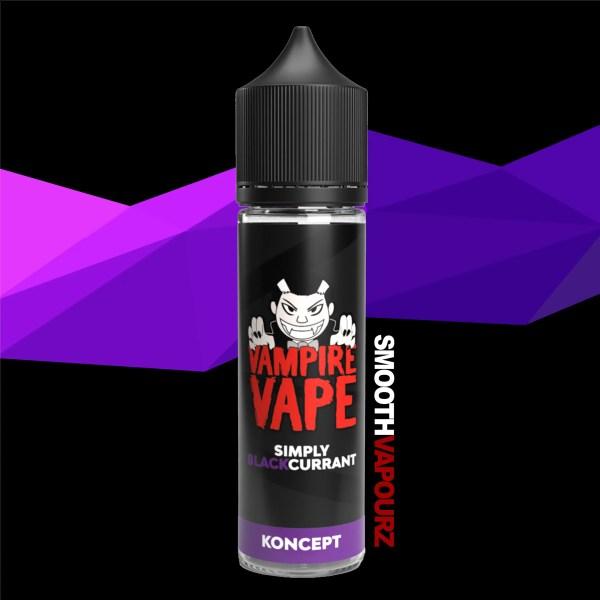 Vampire Vape 50ml Shortfill e-liquid simply blackcurrant - smooth vapourz