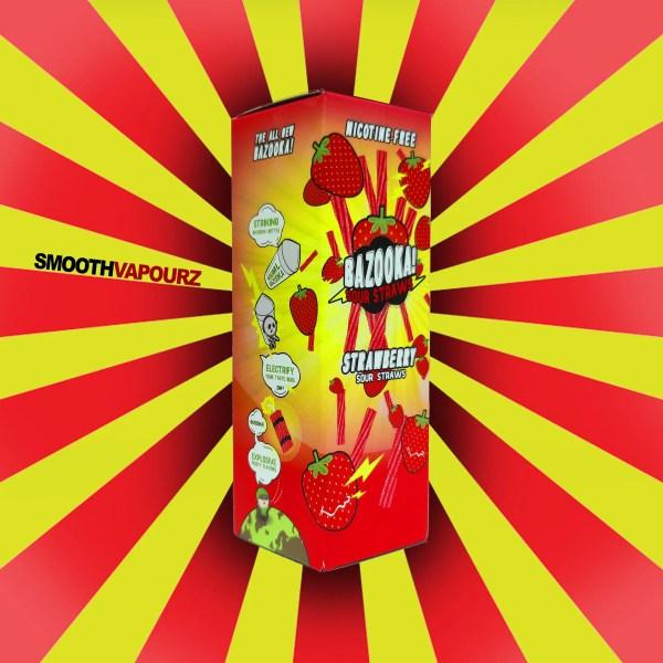 Bazooka - Sour Straws - Strawberry - 100ml E-liquid - Smooth Vapourz