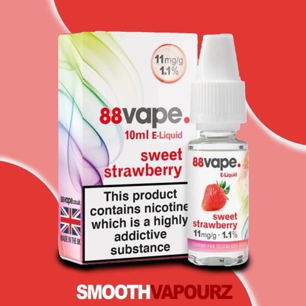 sweet strawberry 88 Vape 10ml Vape Juice - smooth vapourz