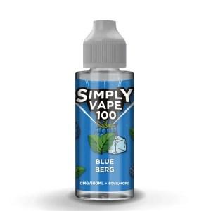Simply Vape 100 - 100ml e-liquid Vape juice - Blue Berg - Smooth Vapourz