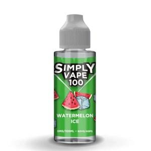Simply Vape 100 - 100ml e-liquid Vape juice - Watermelon Ice - Smooth Vapourz