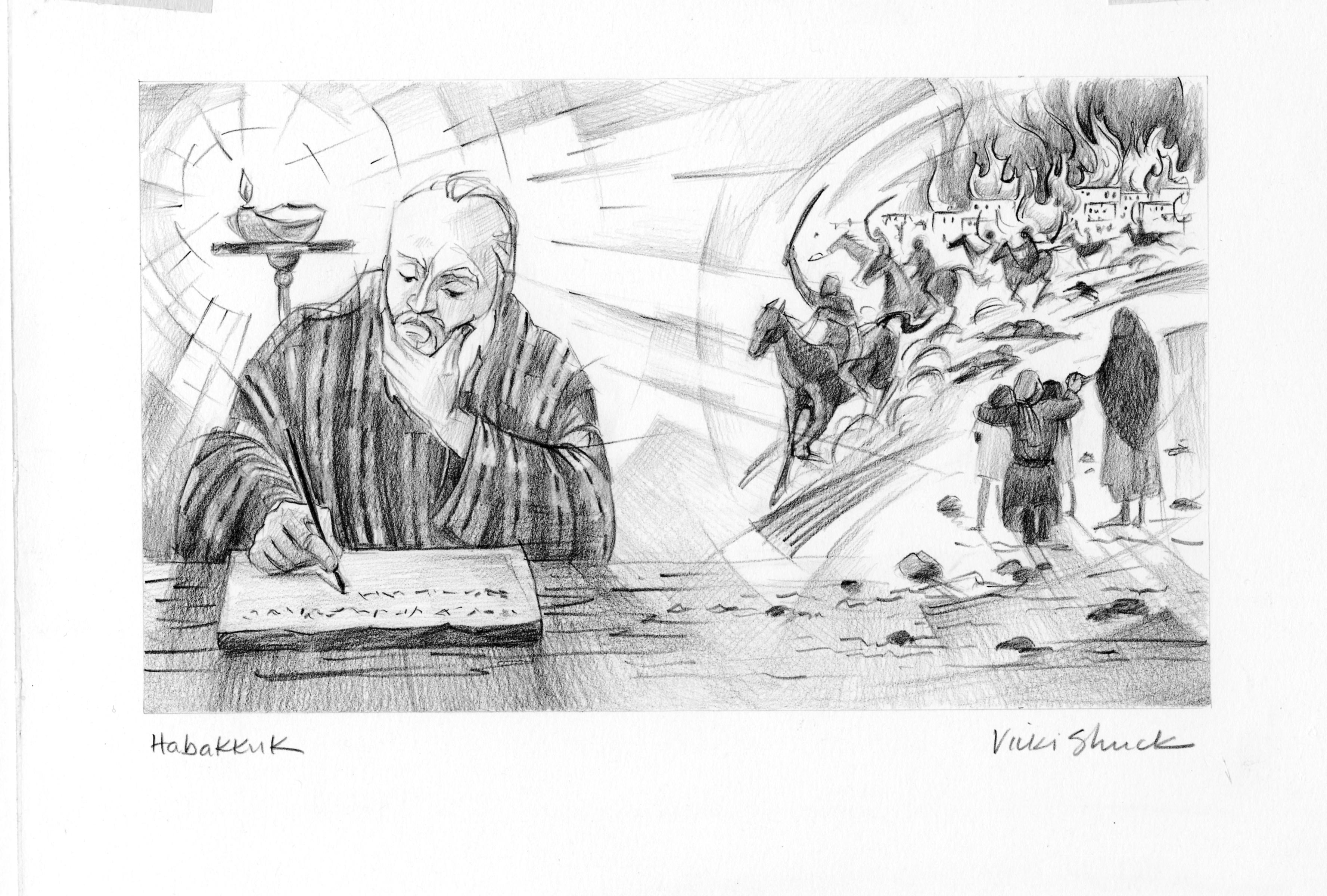 Habakkuk 2 2 4 Illustration