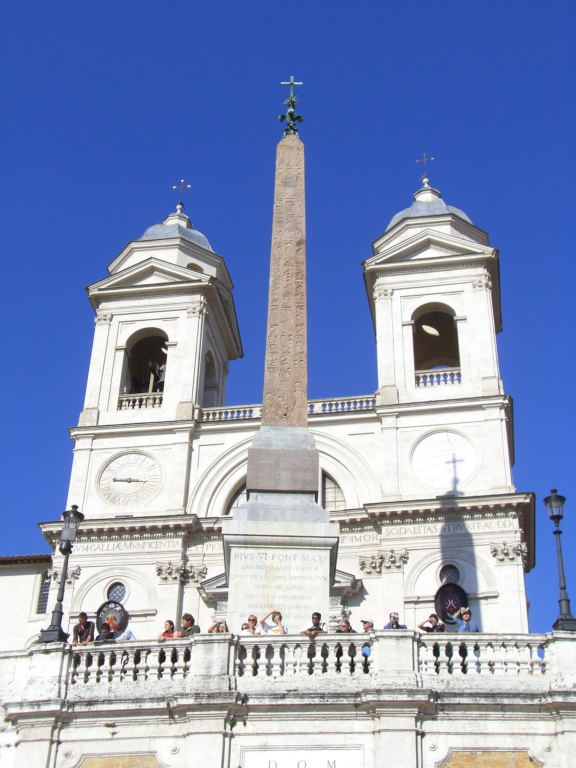 Trinita Dei Monti Church At The Top Of Spanish Steps In