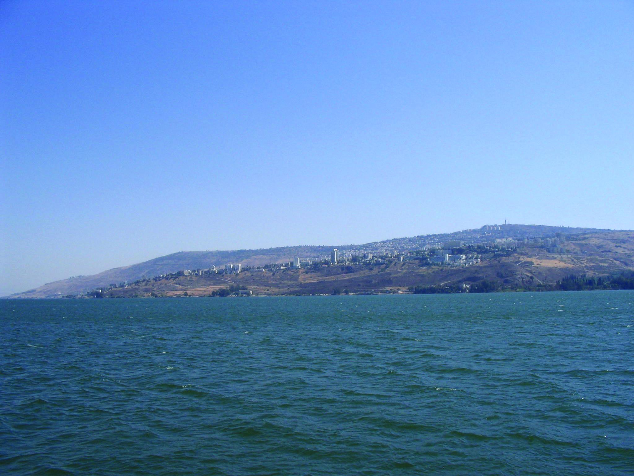 Sea Of Galilee And City Of Tiberias
