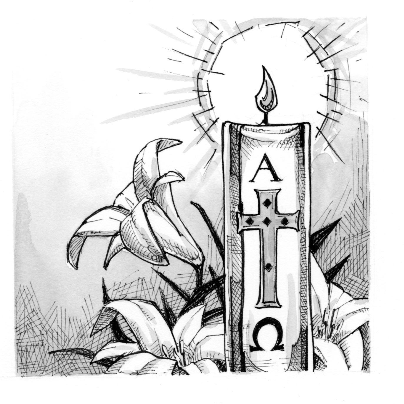 Signs And Symbols Paschal Candle