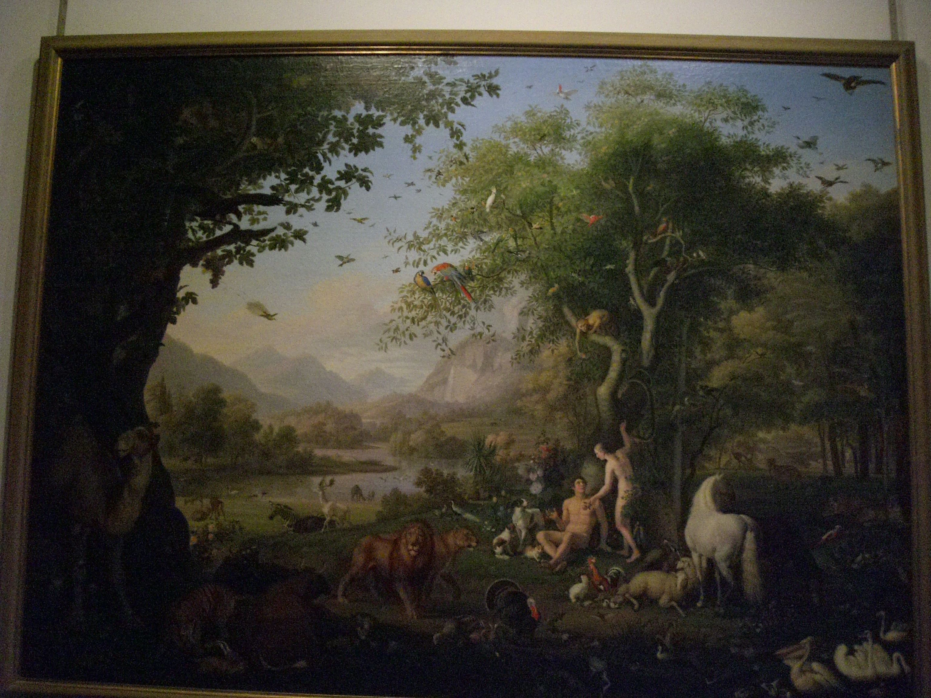 Vatican Museum Pinacoteca Art Gallery Adam And Eve In Garden Of Eden By Peter Wenzel
