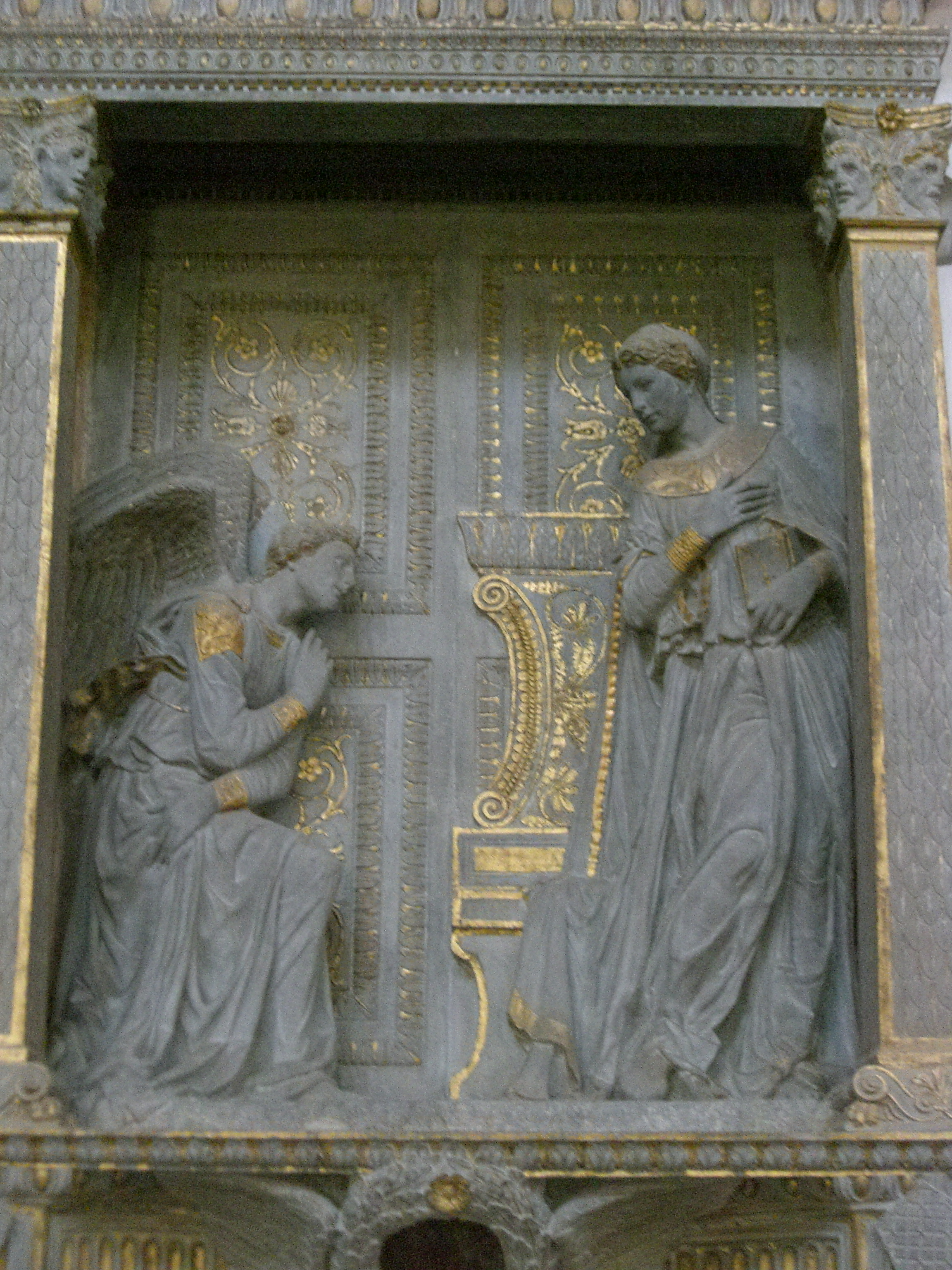 Donatello S Tabernacle Cavalcanti Anunciation In Florence