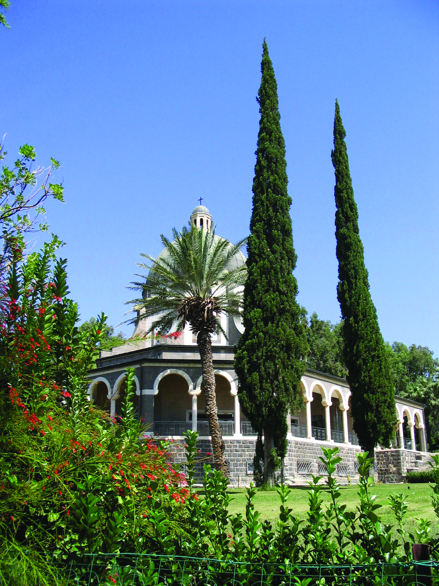Church Of The Beatitudes Near Tabgha Israel