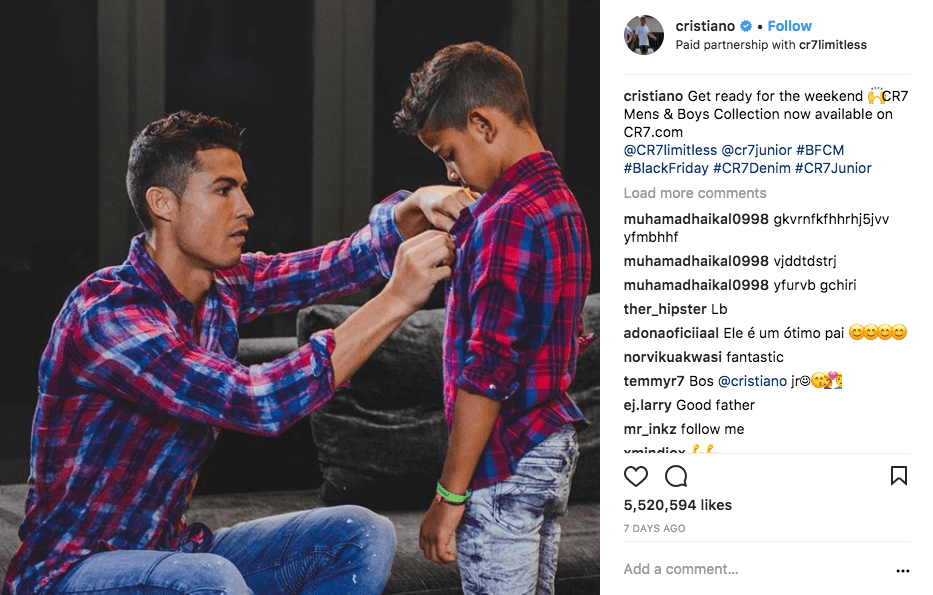 Ronaldo with his son