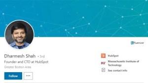 Dharmesh Shah LinkedIn