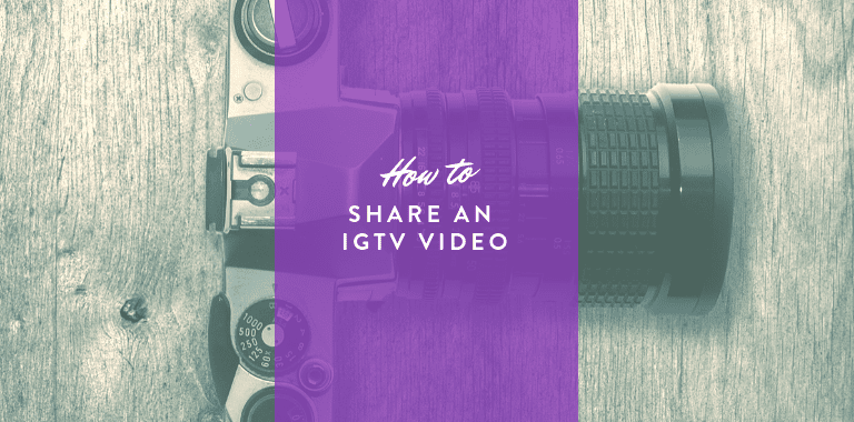 how to share an igtv video