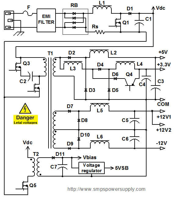 pc power supply wiring diagram wiring diagram psu wiring diagram for pc diagrams and schematics