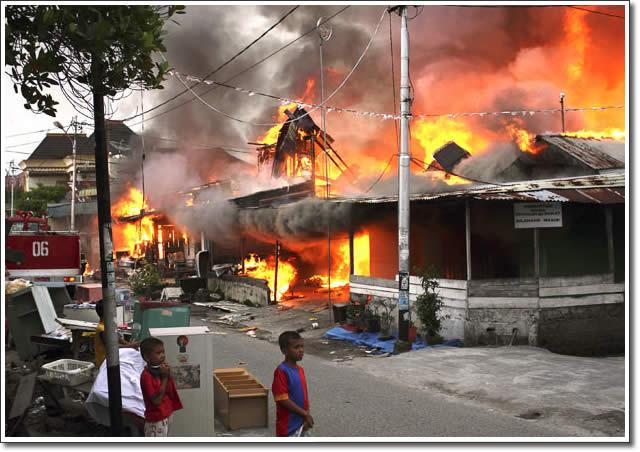 Trzęsienie ziemi pożarów