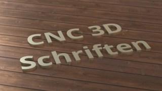 3D Schriften und Schriftzüge: CNC gefräste Werbemittel
