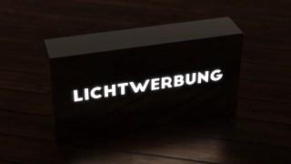 Lichtwerbung: CNC gefräste Werbemittel