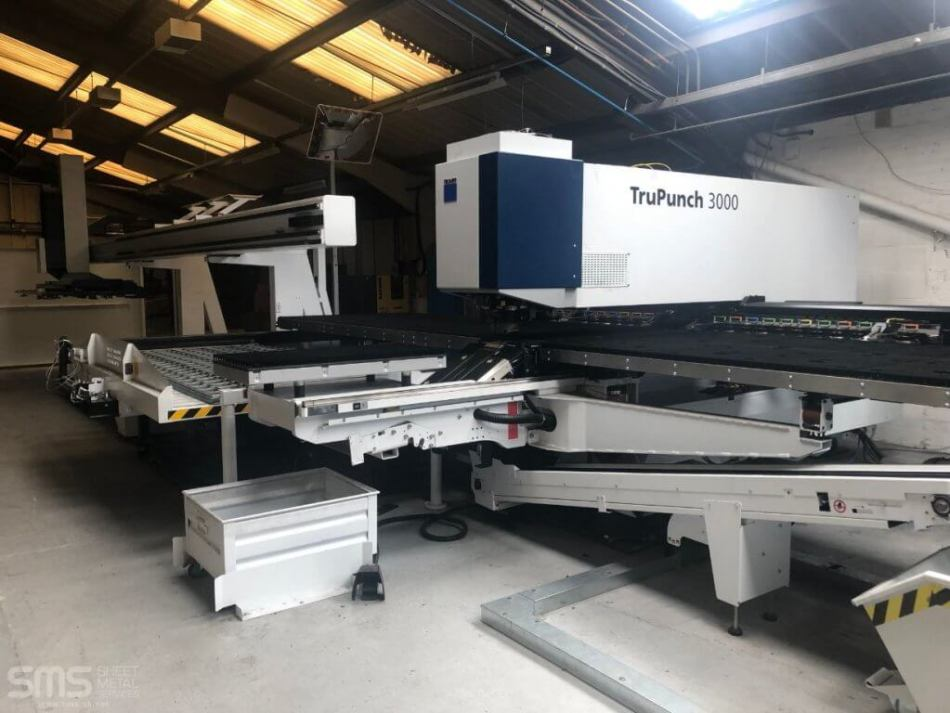 Full shot of Trumpf Trupunch 3000 at Sheet Metal Services Seaforth, Liverpool