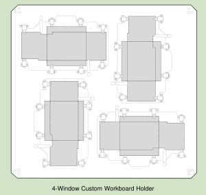 4 window custom workboard hodlder