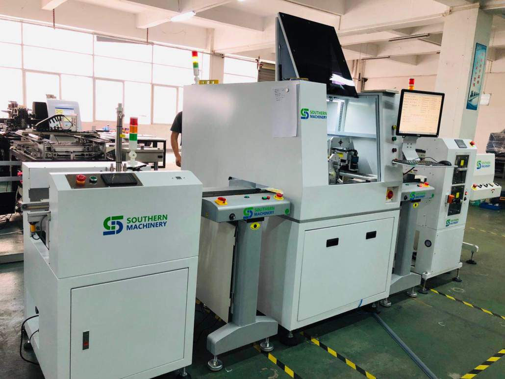 Laser marking production line with PCB surface cleaner