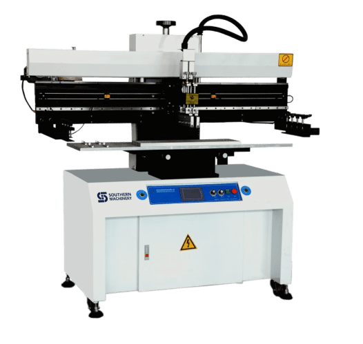 Semi-Auto Screen Printer SP-1200 for 1.2M LED assembly.