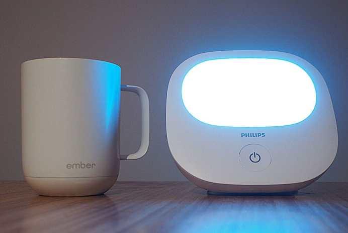 luminotherapie phototherapie Philips tasse chauffante Ember