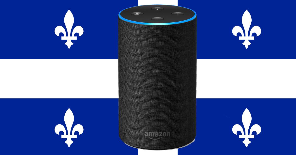 Alexa Echo français canadien québécois