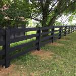 3 Rail Post Board Painted Black Smucker Fencing