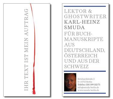 Flyer für Buchläden