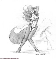 Rosemary on the Beach Sketch